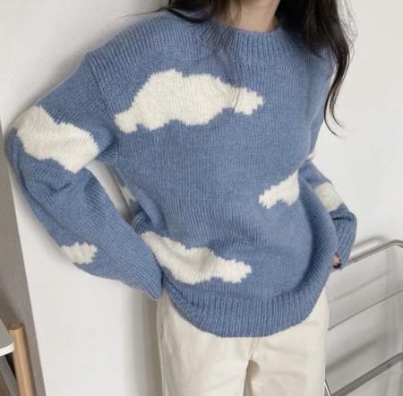 韓國東大門♛~韓國首爾熱賣♛白雲朵朵小清新保暖時尚針織毛衣♛✿超減齡~✿~超百搭~ 3色可選