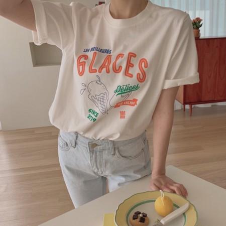 韓國東大門♛~韓國首爾熱賣♛童趣減齡冰淇淋可愛印花造型上衣♛✿超減齡~✿~超實搭~~超推!! 2色可選