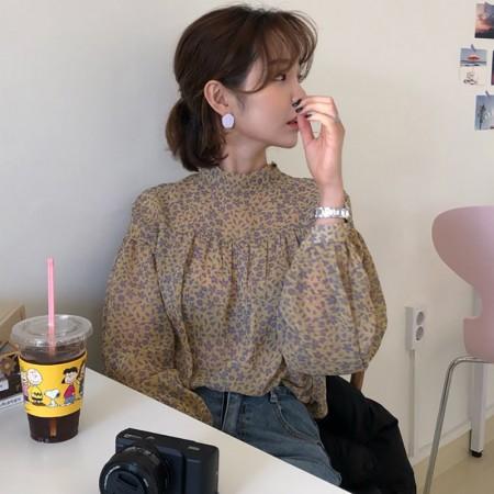 韓國東大門~夏季設計首爾熱賣款✿甜美小碎花寬鬆綁帶(雙面可穿)雪紡上衣✿超氣質~☁ 約會~旅遊~上班~必備 ◙ ◚ ◛