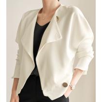 ✽✾韓國東大門~早春新款✽超氣質實搭短版風衣外套~也可單穿~實品如圖~物超所值✾✔超減齡✿✔超氣質 ✔超質感 ✔超好搭 S-XL  2色