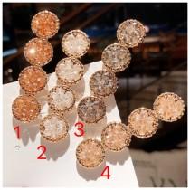 韓國東大門鑽石閃亮亮耀眼動人時尚髮夾 4色 2件300元