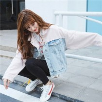 韓國東大門批市NO.1韓系寬鬆雙色造型牛仔外套~超稀有款!!