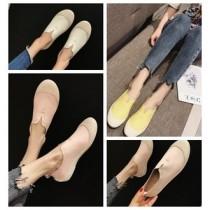 韓國東大門銷售NO1.韓系超柔軟~超好走~百搭款圓頭造型休閒鞋35~39碼 3色
