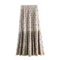 韓國東大門韓系OL氣質款英倫格紋• •玉水點點• •西裝布小超質感百摺裙 S~XL