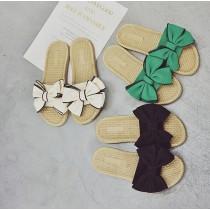 韓國東大門暢銷~經典基本款立體蝴蝶結甜美拖鞋 3色 35-40號