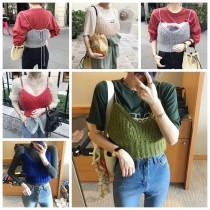 韓國東大門韓系復古多色甜美毛衣背心(肩帶可調長度) 5色