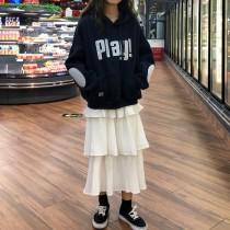 韓國東大門韓系BF寬鬆美式英文字母PLAY刺繡棉質加厚休閒帽T 3色