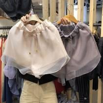 韓國東大門韓系網紗浪漫氣質短褲 2色