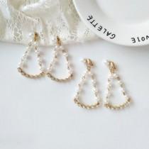 韓國南大門商圈熱銷款NO.1 氣質夢幻珍珠水鑽 耳環&耳夾