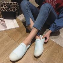 韓國東大門銷售NO1.圓頭休閒粉嫩色系軟膠底糖果玩色馬卡龍平底休閒鞋~35~39碼 3色