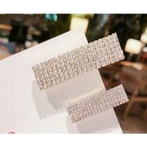 韓國東大門閃亮滿版鑽石長方形時尚髮夾  2種款式2件300元
