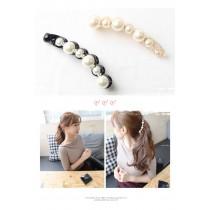 韓國東大門超氣質珍珠香蕉夾 2色