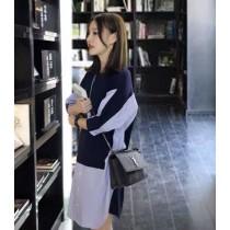 韓國東大門~早春首爾熱賣款♥街頭風顯瘦休閒拼接長版造型連身裙~☁ 出遊~~休閒時尚必備 ◙ ◚ ◛ S-XL