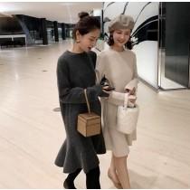 韓國東大門♛~韓國首爾熱賣♛秋冬加厚內搭款長洋裝可搭配大衣當內裡 ♛✿超減齡~✿~超實搭~~!! 4色可選 S-XL