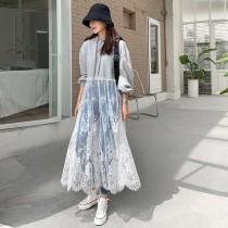 韓國東大門~初春設計首爾熱賣款✿蕾絲拼接連帽透視感十足長版時尚造型上衣✿超休閒~超唯美~☁ 上班~旅遊~必備 ◙ ◚ ◛