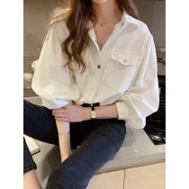 韓國東大門~初春設計首爾熱賣款♥落肩款牛仔布料質感百搭襯衫外套~也可當上衣~~✿超休閒~☁ 上班~旅遊~必備 ◙ ◚ ◛  3色可選  S-L