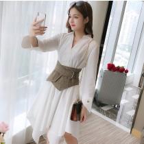 一個女孩的衣櫥--韓國東大門-✤✤限量上市✤✤韓系腰圍及卡其背心連衣裙✤✤✤ ~☍❤超韓甜美風☍~✤✤✤S-2XL  2件組  ❤2款❤
