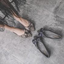 ✽✾韓國東大門~初秋新款✽✾超夢幻公主風擺搭蝴蝶結閃閃惹人愛尖頭鞋✿ ✔超減齡 ✔超質感 ✔超軟超好搭  2色可選