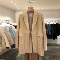 韓國東大門~冬季首爾熱賣款♥✿針織拼接寬鬆韓風街頭時尚度滿分大衣外套~☁~~超質感~☁ 上班~洽公~出遊必備 ◙ ◚ ◛ S-XL