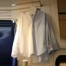 韓國東大門~初春設計首爾熱賣款♥雙拚色挺布料質感寬鬆時尚長袖上衣✿超甜美~☁ 上班~旅遊~必備 ◙ ◚ ◛ S-XL