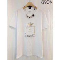 韓國東大門小香風香水瓶立體印花T恤