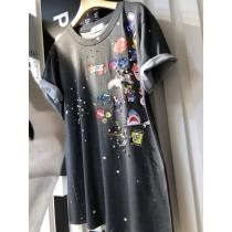 韓國東大門童趣插圖釘珠T恤