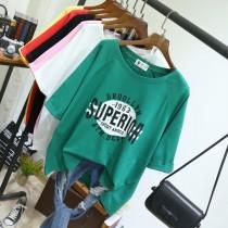 韓國東大門韓版英文字母印花寬鬆百搭潮流顯瘦上衣 5色